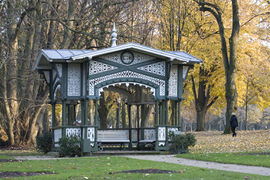 The Bénazet Pavilion originally served as a bandstand. It was owned by the casino tenant Edouard Bénazet.