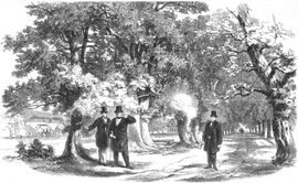 On 14 July 1861 the first assassination attempt on King Wilhelm I von Preußen was commited in the Lichtentaler Allee. The king was only injured slightly.