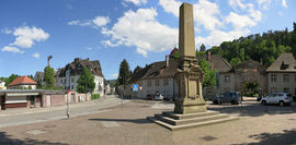The Klosterplatz is located in front of the Monastery Lichtenthal and marks the end of the Lichtentaler Allee.